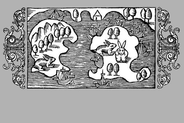 Karta över Älvsnabben - Olaus Magnus