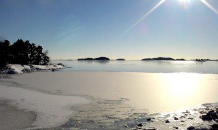 Isränna bruten från Mysingen till Ersholmen.
