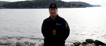 Ewa Skoog-Haslum är flottiljchef och ansvarig för ubåtsjaktövningen. Foto: Magnus Jirlind/Försvarsmakten
