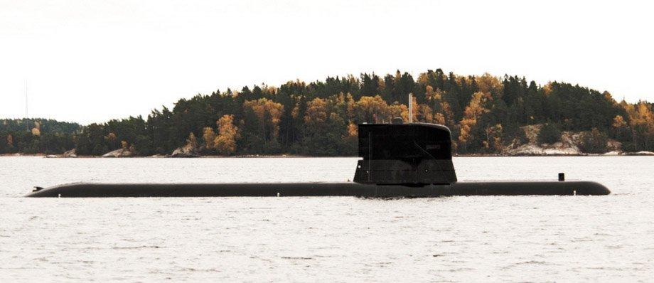 För att det tydligt ska framgå att de ubåtarna som deltar tillhör övningen kommer gångljus och blixtljus vara tänt i ytläge, enligt gällande sjötrafikföreskrifter. Foto: Magnus Jirlind/Försvarsmakten