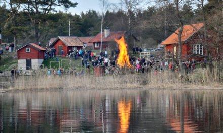 Valborgsfirande på Grytholmen