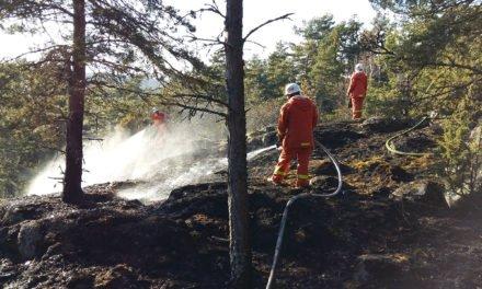 Glödbrand spred sig under marken på Muskö