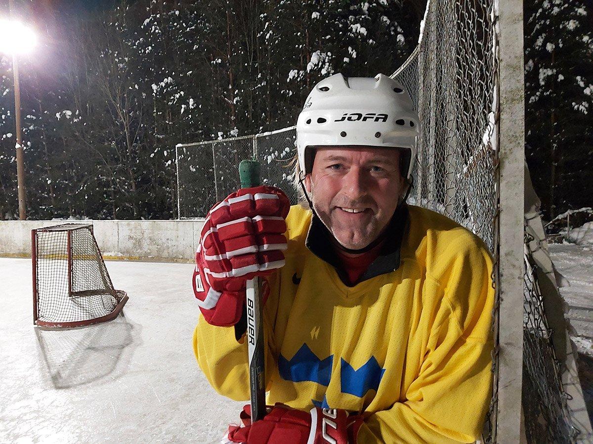 Håkan Öhman hade en väldigt uppskattad skridskoskola på hockeyrinken vid Muskö IF's klubbhus onsdagen 10 februari.
