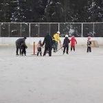 Skridskoskola på hockeyrinken