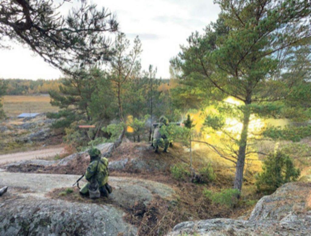På Södertörn pågår en stor försvarsövning under den här veckan - Foto Försvarsmakten