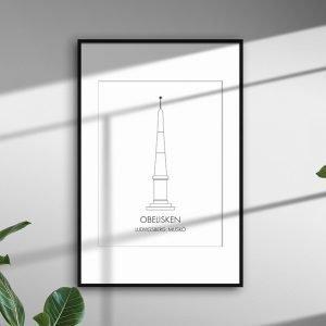 Obelisken, Ludvigsberg, Muskö som stiliserad tavla.